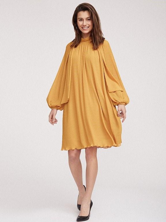 Струящееся желтое платье Calista со съемным поясом