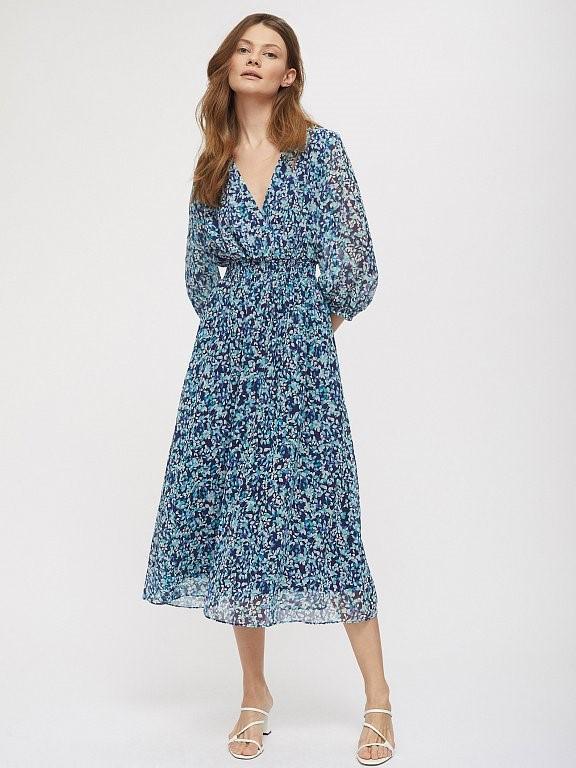 Платье миди Calista с растительным принтом